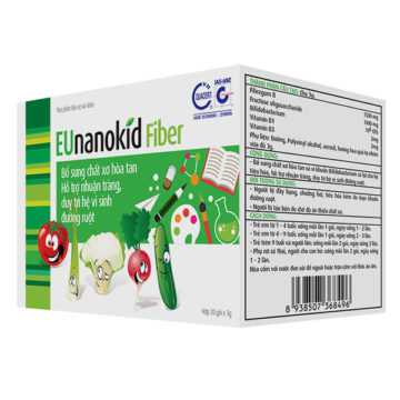 EUNanokid Fiber - Bổ sung chất xơ hòa tan, nhuận tràng, duy trì hệ vi sinh đường ruột